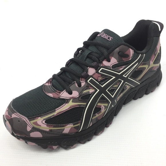 cheaper 9310d 67080 ASICS Gel Scram 3 Black Purple Camo Sneakers 10.5 NWT